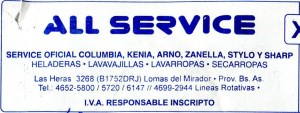 All Service Domestic Appliance Repair Buenos Aires Argentina