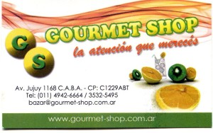 Gourmet Shop - Avenida Jujuy 1168 - C.A.B.A. - Argentina - gastronómico
