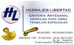 Herrajes Libertad restauracions griferia artesanal bronceria herrajes para obras trabajos especiales