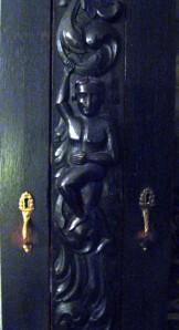 Manijas de Bronce del Mueble Negro